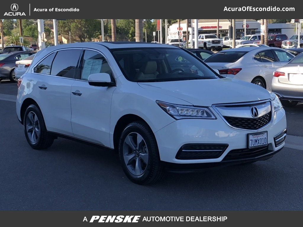 Certified PreOwned Acura MDX Base SUV In Escondido TA - Pre own acura